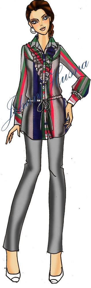 desain kemeja perempuan desain kemeja wanita ds kw 09 jihanhusna spesialis