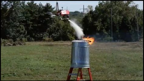 fire fighting drone flite test experiments with a firefighting drone rtm