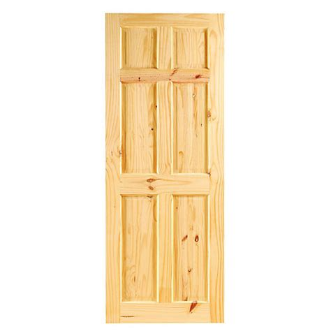 Softwood Exterior Doors Wickes Lincoln Softwood Door Knotty Pine 6 Panel 1981x686mm Wickes Co Uk