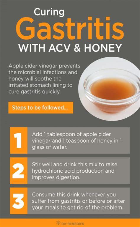 cure gastritis  apple cider vinegar