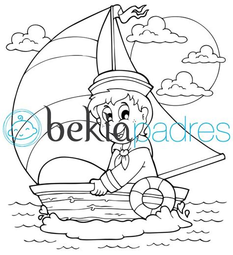 barco marinero dibujo marinero en un barco de vela dibujo para colorear