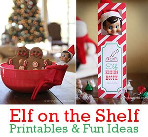 printable elf on the shelf kissing booth template how to make an elf hair bow easy christmas craft