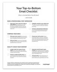Email Checklist Template by Your Top To Bottom Email Checklist What To Include Before