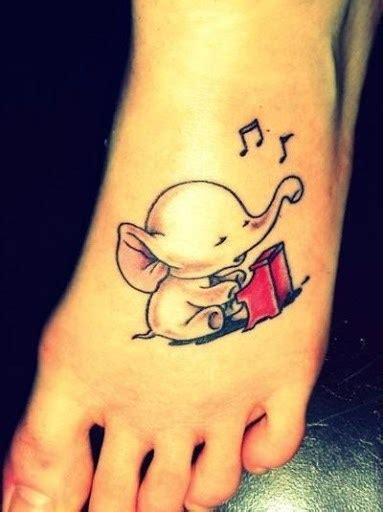 elephant tattoo with music notes foot tattoos askideas com