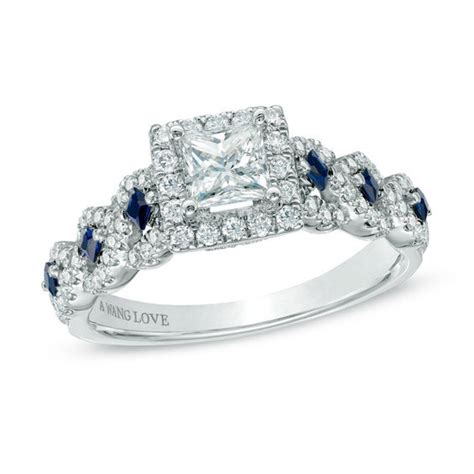 vera wang love collection 1 ct t w diamond and blue