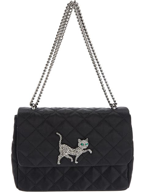 Cheap Quilted Bags by Moschino Cheap Chic Quilted Cat Bag In Black Lyst