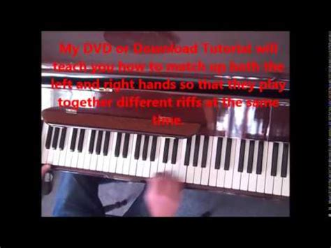 tutorial piano boogie woogie the best boogie woogie piano tutorial lesson youtube