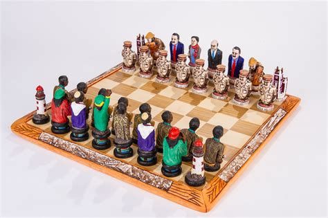 themed chess sets a south political themed chess set depicting the freedom struggle 187 kumbula shop