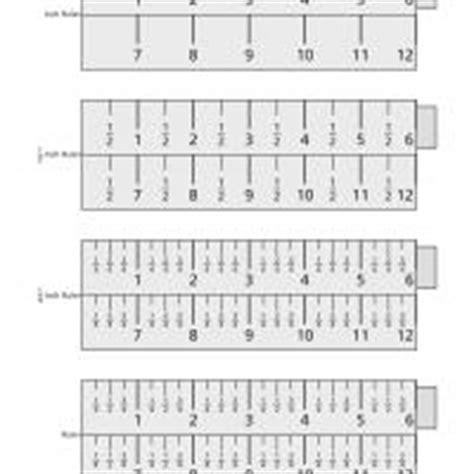 printable ruler fourths half and one fourth inch ruler