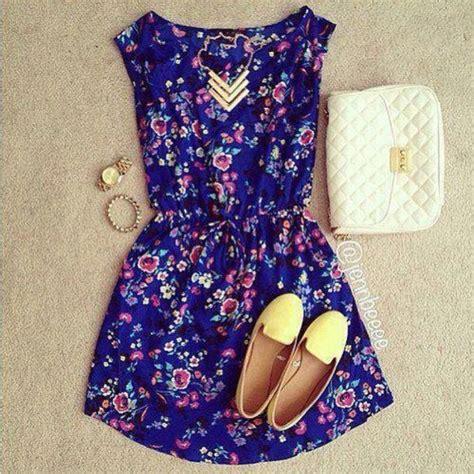 dress floral flowers navy floral dress loafers