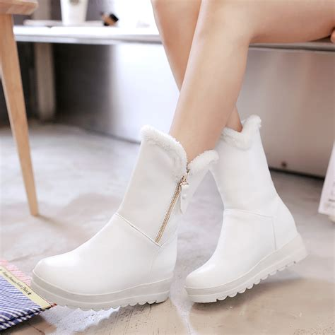 Winter Boots Shoes new winter boots shoes leather flat platform snow