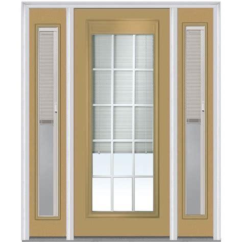 Prehung Exterior Doors Mmi Door 64 In X 80 In Blinds And Grilles Right Lite Classic Painted Steel