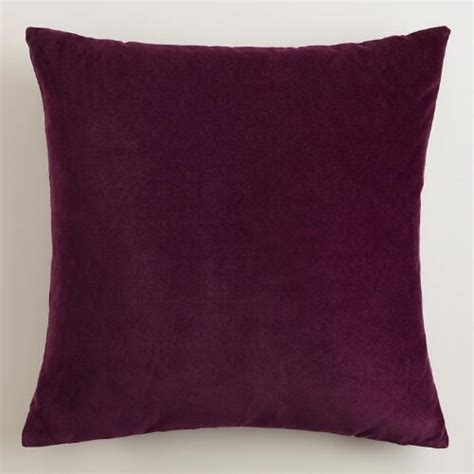 Purple Sofa Pillows Potent Purple Velvet Throw Pillows World Market