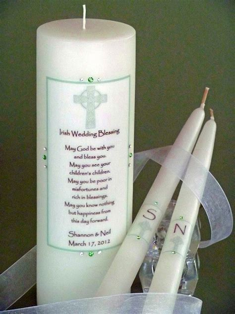 Wedding Blessing Unity Candle Set by Green Cross Wedding Unity Candles
