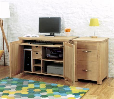 hideaway laptop desk oak furniture home office hideaway pc
