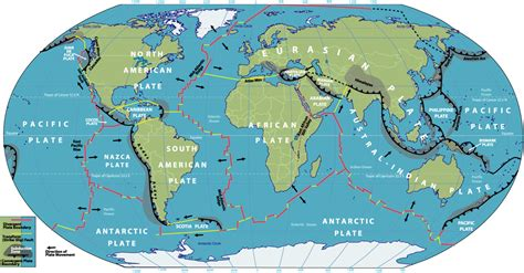 map of tectonic plates tectonic map collection