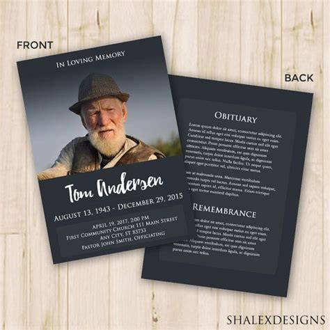funeral service cards template funeral program template funeral program for memorial