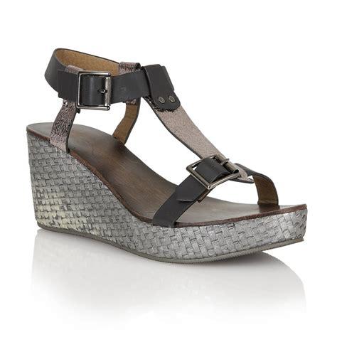 pewter sandals buy ravel hibbing wedge sandals in black pewter