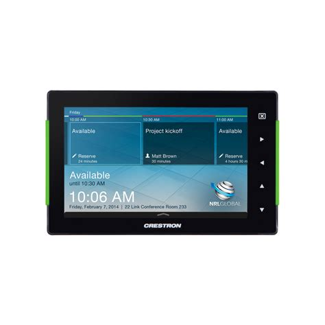 crestron room booking system crestron tss 752 7 room scheduling touch screen
