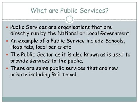 what are amenities difference between public and private sector