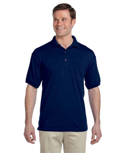 Sweater Polos Gildan Navy navy gildan dryblend polo shirt w pocket