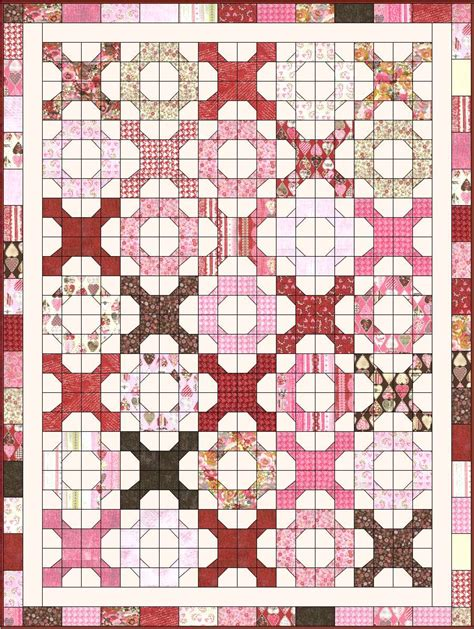 Hugs And Kisses Quilt Pattern Free by Christa S Quilt Along 5 9 Hugs N Kisses Fmq