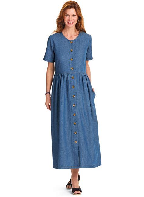 Dress Carol Wash 100 cotton denim dress carolwrightgifts