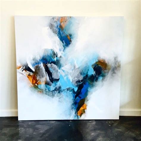 acrylic painting a sky blue abstract sky painting by howard