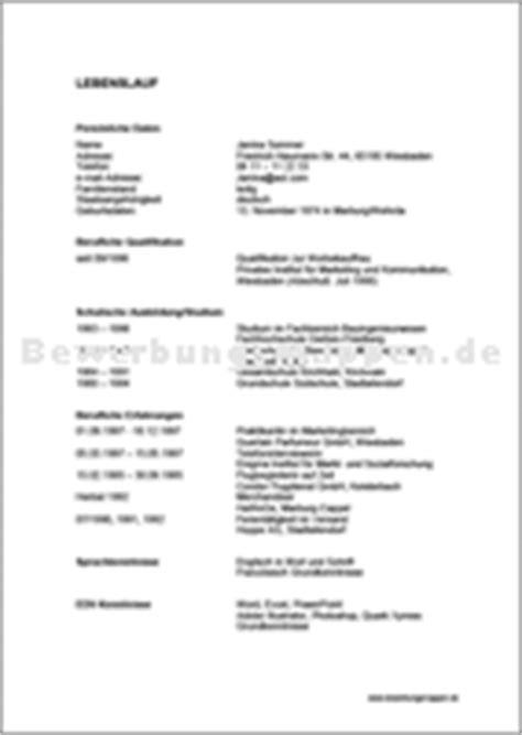 Tabellarischer Lebenslauf Referendariat 10 tabellarischer lebenslauf vorlage word rechnungsvorlage