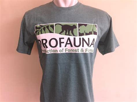 Kaos Satwa 1 t shirt logo profauna warna hijau profauna