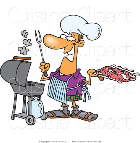 clipart cuisine cuisine clipart of a smiling preparing to barbeque