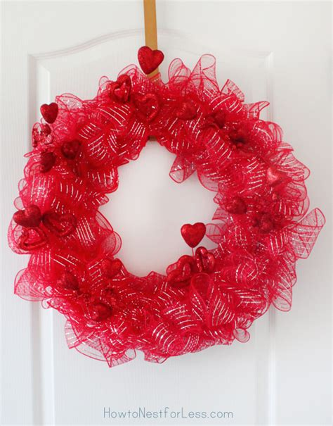 Diy Home Decor Ideas Budget by Valentine S Day Wreath 20 Minute Project How To Nest