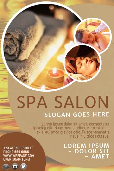 design flyer spa spa flyer template postermywall