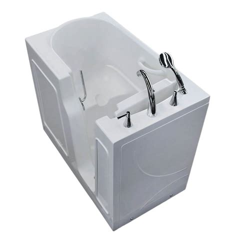 home depot walk in bathtub universal tubs 3 9 ft right drain walk in bathtub in white hd2646rws the home depot