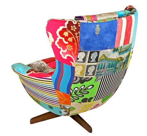 Patchwork Egg Chair - egg chair by upcycled patchwork upholstery