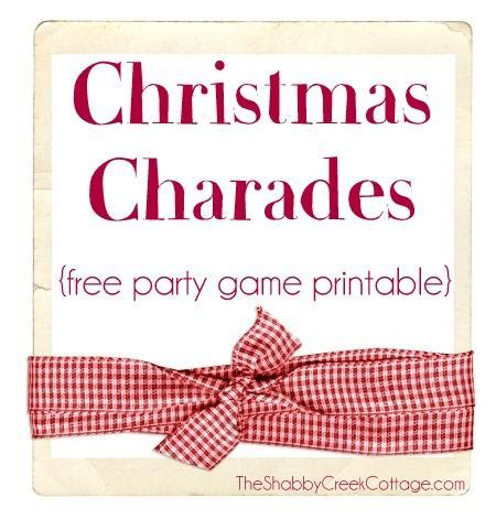 printable christmas charades 7 free printable christmas games for your holiday party