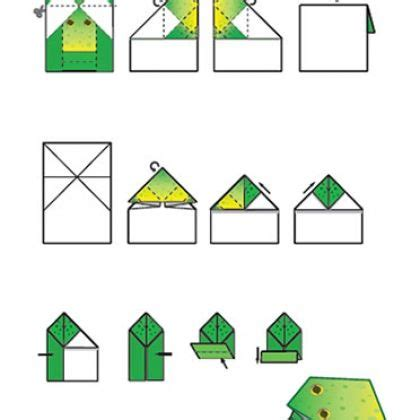 Origami Frog Printable - origami frogs and origami frog on