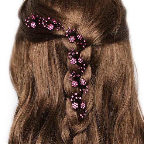 Hair Clip Mini Fuschia Clip 6 6pcs pack wedding bridal hair claws mini headwear