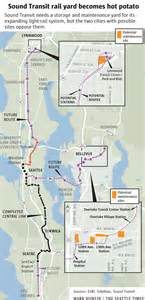 Seattle Light Rail Map by Sound Transit Light Rail Plan