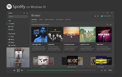 design apps for windows 10 spotify universal app on windows 10 concept by