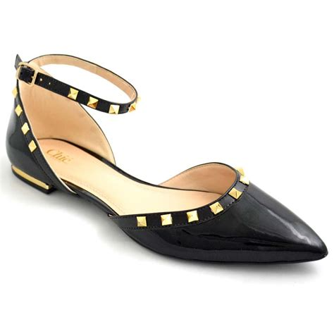 chic flat shoes buy flats bellies stylish black color flats