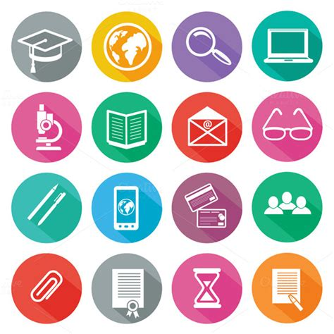 icon set for professional training icons on creative market