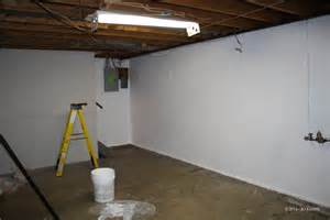part 1 painting our basement the walls don t