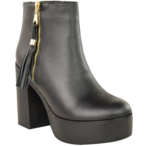 Chunky Heel Platform Ankle Boots chunky platform ankle boots 28 images faux leather