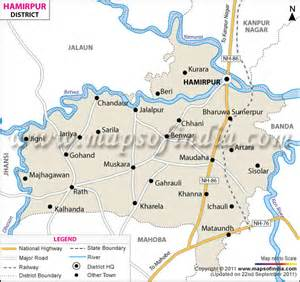 Time Table Chart Hamirpur District Map Uttar Pradesh