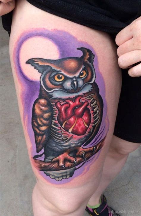 owl thigh tattoos 50 wonderful owl tattoos on thigh