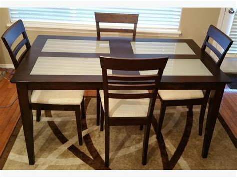 Dining Table With Glass Insert Modern Dining Room Table Glass Inserts With 4 Chairs Sooke
