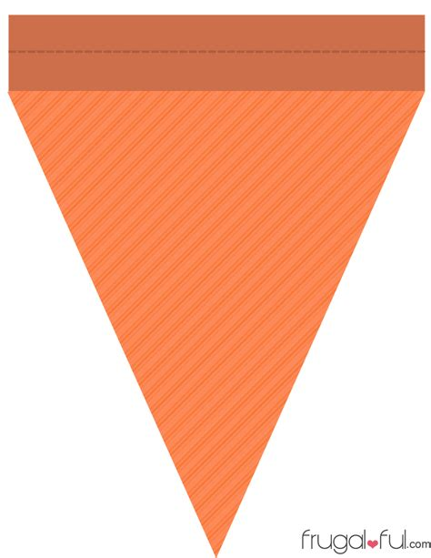 diy  printable halloween triangle banner template