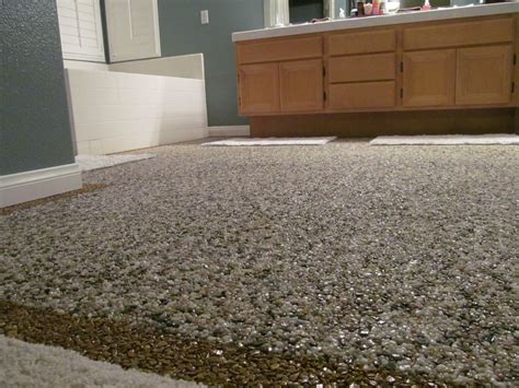 Pebble Flooring by Pebble Epoxy Floor In Bathroom Yelp