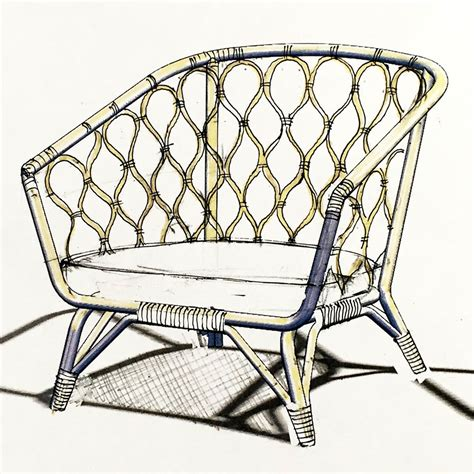 Rattan Armchair First Sketch Of Rattan Armchair For The Stockholm Collection